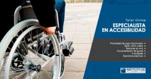 Flyer Taller Online Especialista en Accesibilidad