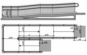 Rampa accesible en plano